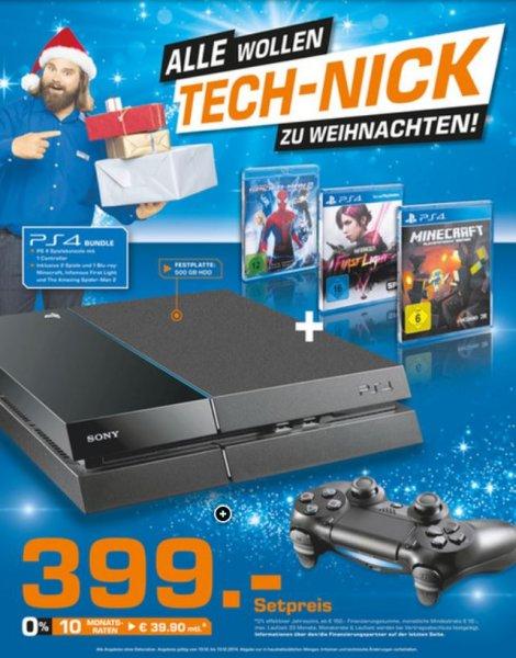 PS 4 mit einem Controller und 3 Spiele für 399,- lokal Saturn Wolfsburg
