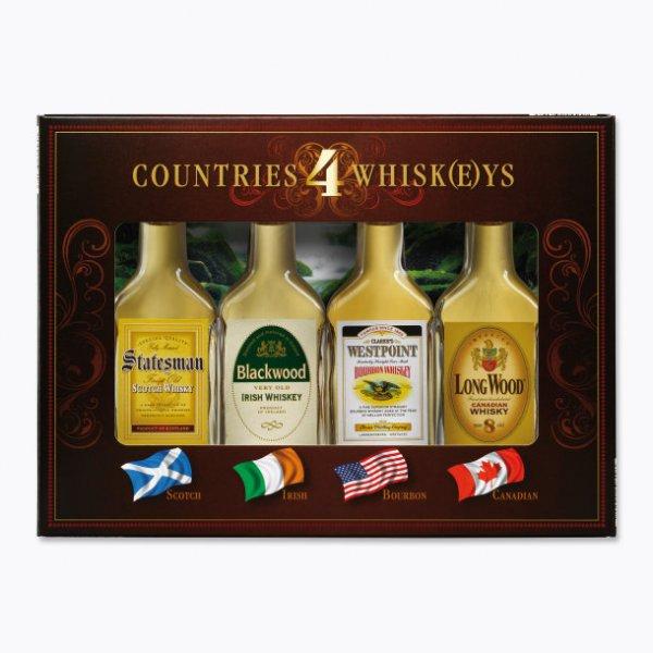 Countries 4 Whisk(e)ys Miniaturset bei Aldi Nord für 4,99 €