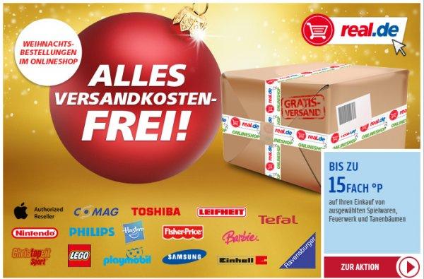 15fach Payback Punkte auf Tannenbäume & Feuerwerk bei real.de + Versandkostenfrei