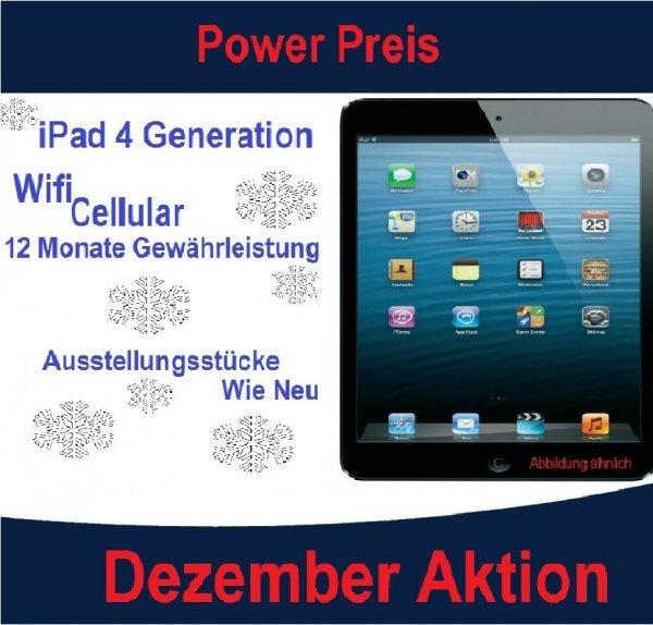 """Apple iPad 4  - 16GB WiFi + Cellular für 289€- Ausstellungsstücke """"ohne Gebrauchsspuren"""""""
