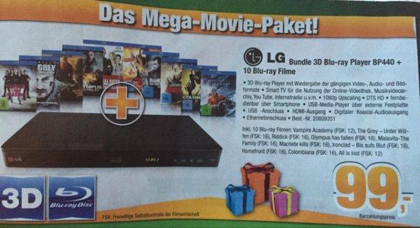 EXPERT LG Bundle 3D-Blu-Ray Player BP440+10 Blu-Ray's 99€ Lokal Cuxhaven ?!Bundesweit?!