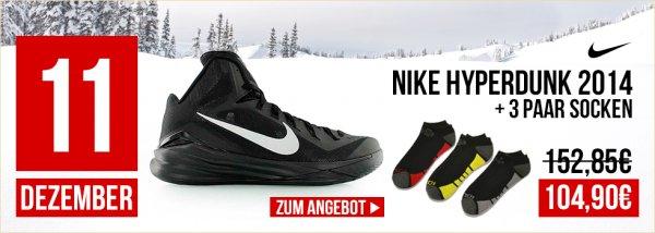NIKE HYPERDUNKS 2014 + Socken NUR 104,90€ @KICKZ.COM