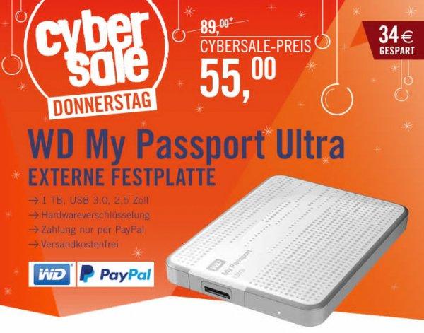 WD My Passport Ultra USB3.0 1TB 2.5zoll - Weiss @ Cyberport