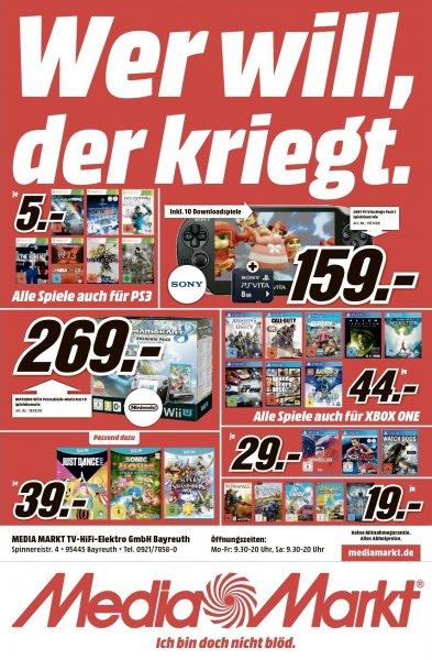 GTA 5 44,- PS4 - MM Bayreuth Hammerpreise bei PS4 und XBOX ONE Spielen