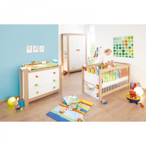 Pinolino Kinderzimmer Sigikid Breit (3 teilig - Bett, breite WiKo, 2-türiger Schrank)