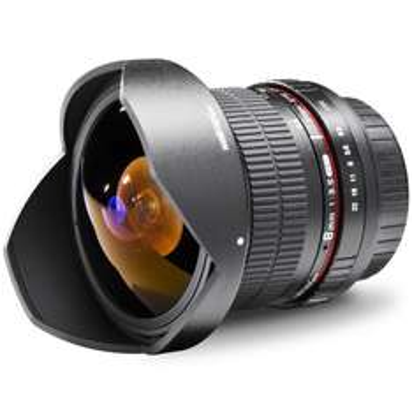 [Amazon.de] Walimex Pro 8 mm 1:3,5 DSLR Fish-Eye II für Canon & Nikon