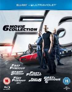 Fast & Furious Collection 1-6 als Blu-Ray incl. UltraViolet für 22,63€ @Zavvi.com