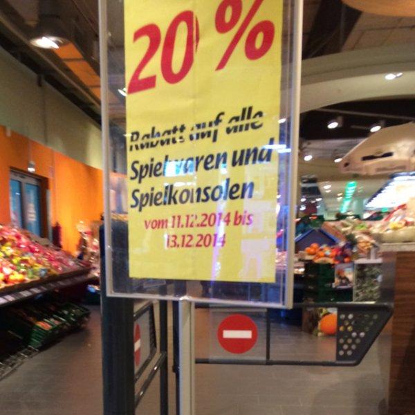20% auf Spielwaren und Spielkonsolen (Marktkauf Stadtbergen) womöglich deutschlandweit