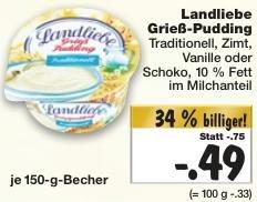 [KAUFLAND KW51] Bis zu 2x Landliebe Grießpudding für je 0,09 € (Angebot + Scondoo)