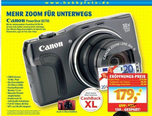 [Lokal LuBu] Canon PowerShot SX700 HS (schwarz/rot)