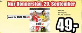 FIFA 12 - Nur Donnerstag bei ProMarkt für 49€ (Xbox, Playstation 3)