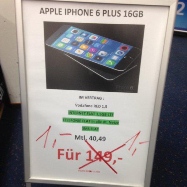 Lokal: D2 Allnet Flat mit 1,5 GB LTE für effektiv 8,45€ i.V.m. iPhone 6 PLUS !!!