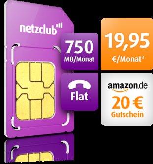 Netzclub Allnet Flat effektiv 1 Monat gratis