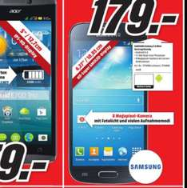 Samsung Galaxy S4 Mini @MediaMarkt Koblenz/Neuwied