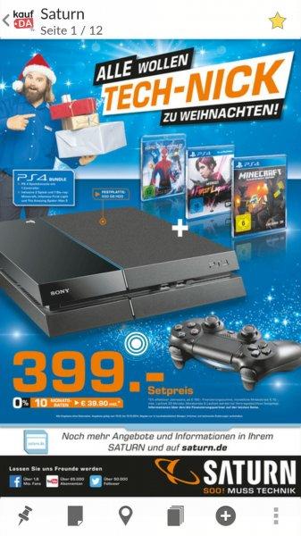 PS4 inkl 2 Spiele + 1 Bluray