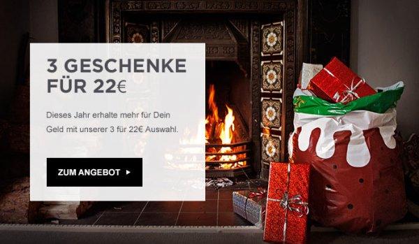 [The Hut] 3 Geschenke zum Preis von 22€ + 3,99 VSK (tw. über 50% Ersparnis)