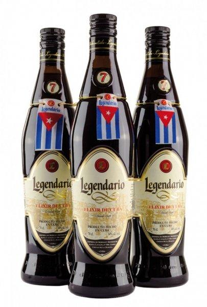 3 Flaschen Ron Legendario Elixir de Cuba 34% 0,7l @brasil-latino.de