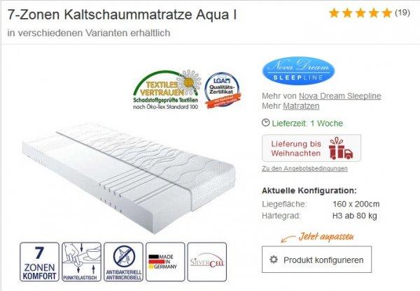 Home24 | 7-Zonen Kaltschaummatratze Aqua I