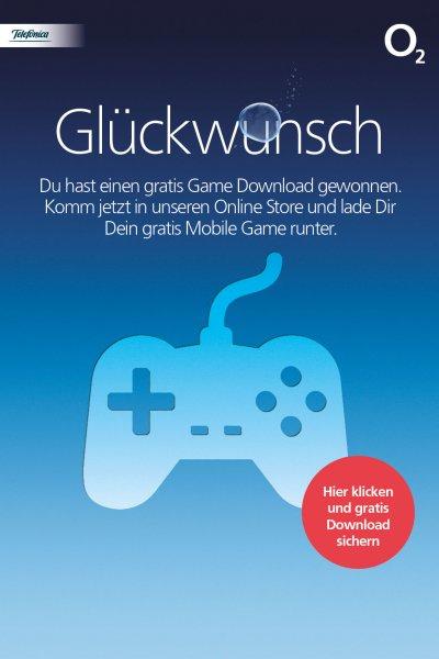 Gratis Handyspiel o2-Kunden mind. 2,99€ Ersparniss.