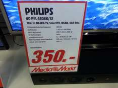 Philips 40PFL 4508K/12 200HZ Full HD 3D 350€ statt 450€