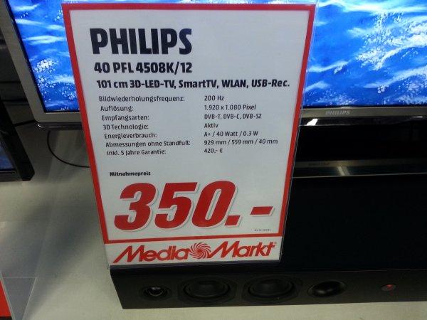 Philips 40PFL 4508K/12 200HZ Full HD 3D 350€ statt 450€