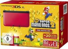 Nintendo 3DS XL - Konsole Rot inkl. New Super Mario Bros. 2 Amazon WHD