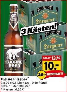 30 Liter Darguner Pils-Bier zu 33,3cent pro Liter [offline, Netto Bundesweit, wo vorhanden]