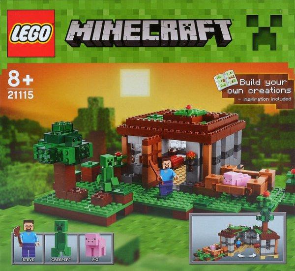 LEGO Minecraft  Steves Haus 21115 auf Lego.de 39,99 € + 3,50Versand [ab 55 Versandkostenfrei]