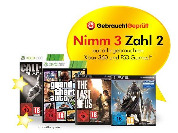 [GameStop offline] gebrauchte PS3 / X360 Games - Nimm 3 zahl 2