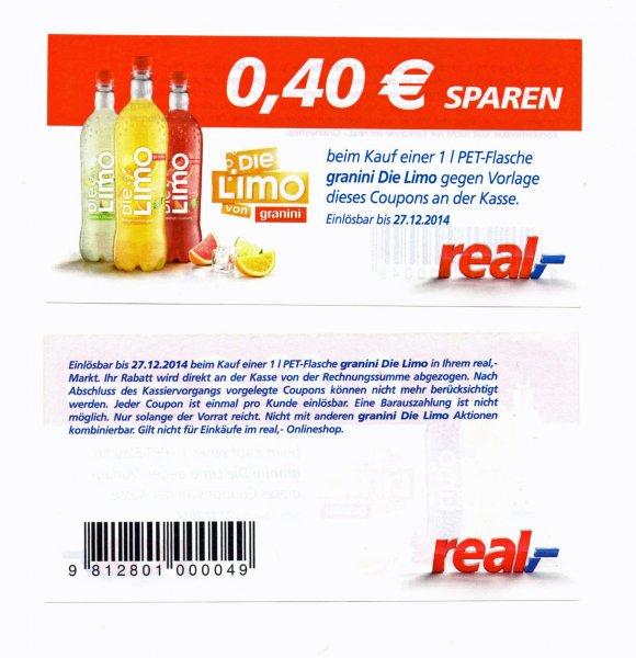 NUR NOCH HEUTE : Die Limo bei REAL für 31cent