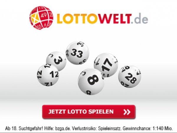 [Gratis] 2 Lottofelder bei Lottowelt.de für Neukunden