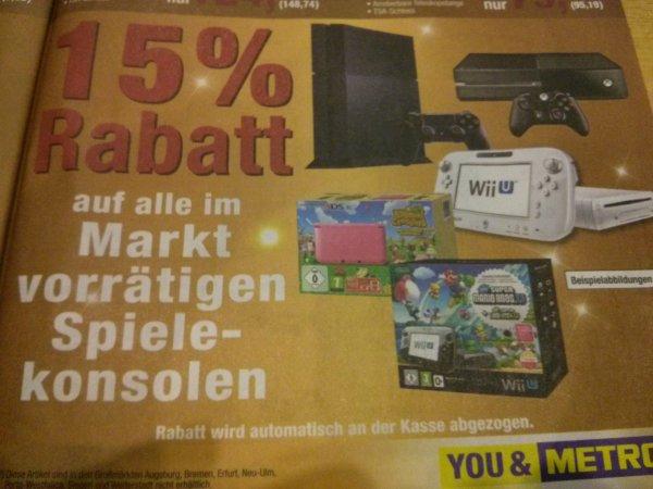 Metro 15% auf Spielekonsolen