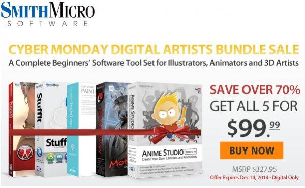 [Smith Micro] Animationsoftware Bundle für 80€ (Poser, Manga Studio, ...)