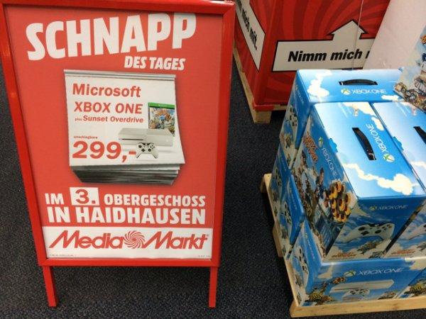 (Lokal?) MM München Einstein xbox One weiß mit Sunset o. Für 299€