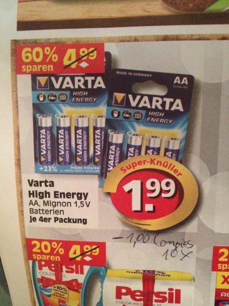 [bundesweit?] Edeka Varta High Energy AA 4er Packung