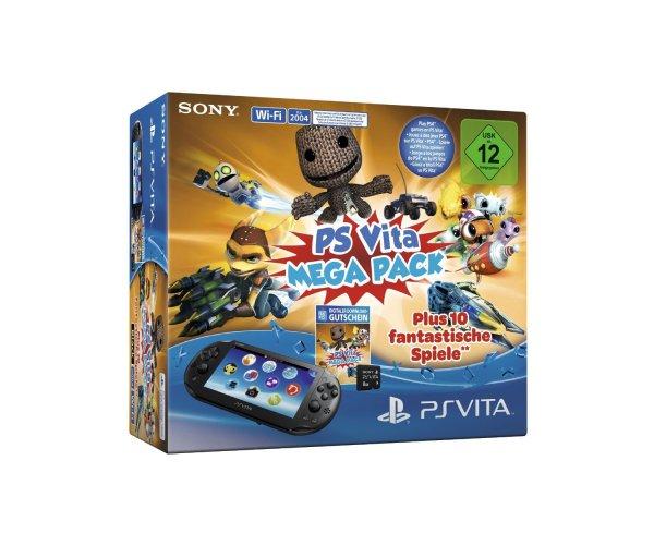 PS VITA Megapack incl. Speicherkarte 8 GB und 10 Games unter 100 EUR AMAZON