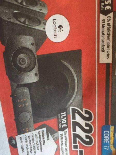 Logitech Z906 für 222€