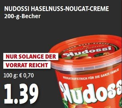 [TENGELMANN/lokal Bayern] Nudossi 200g-Becher / 1,39€