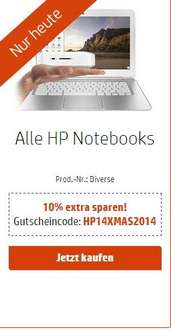 10% auf alle HP Notebooks, zb. 15 Pavilion I7,4GB,750GB,GTX840,Windows8 fuer 584@