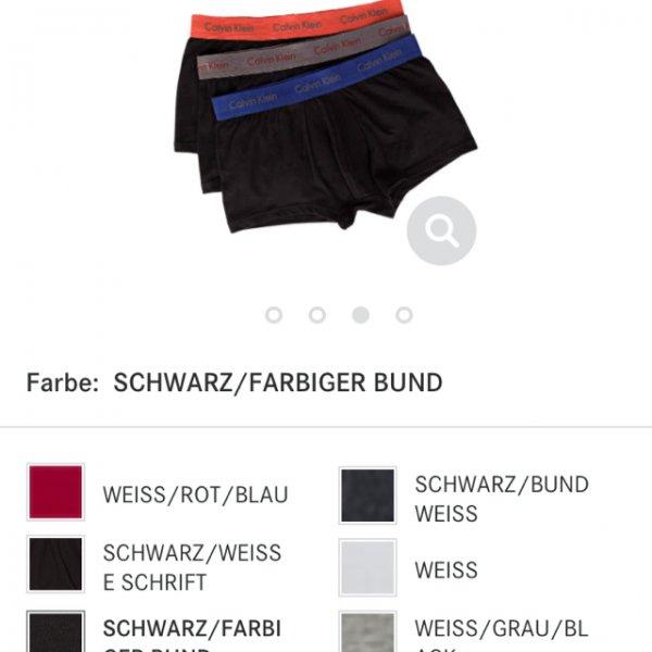 Calvin Klein 3er Pack Boxershorts für 26€