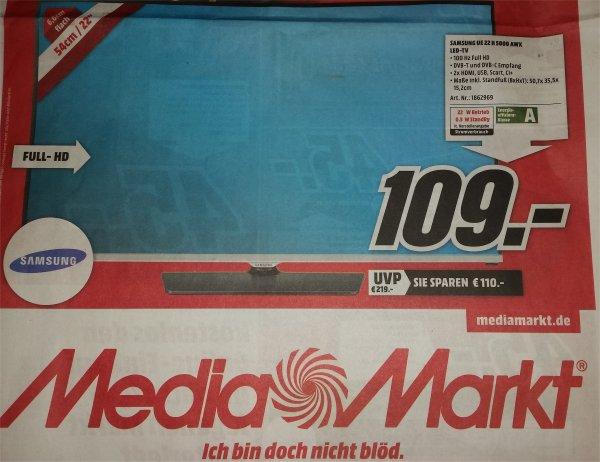 [Media Markt Siegen] SAMSUNG UE 22 H 5000 AWX LED-TV Full HD für 109,-