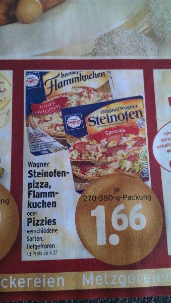 Wagner Pizza, Flammkuchen und Pizzies für 1,66 € bei Wasgau