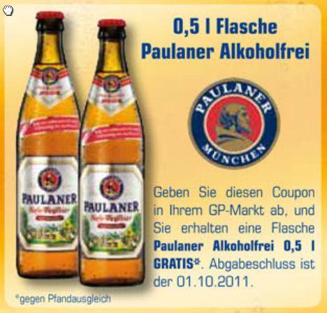1 Flasche Paulaner Alkoholfrei kostenfrei