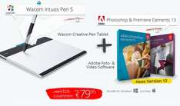 Wacom Intuos Pen S + Adobe Photoshop Elements 13 + Adobe Premiere Elements 13