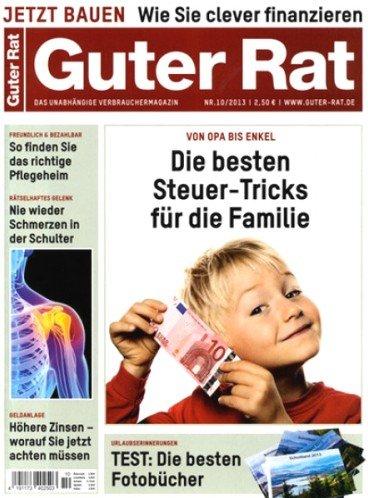 Magazin Guter Rat 6 Ausgaben für 13,80 + 10€ Verrechnungsscheck (wieder verfügbar) - 3,80€