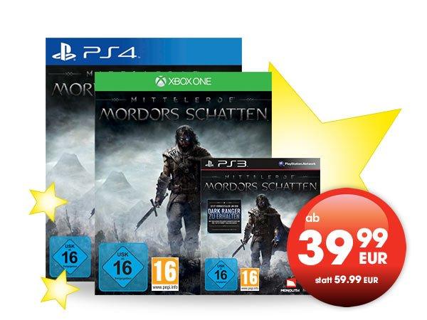 [lokal] Mittelerde : Mordors Schatten - PS3 PS4 Xbox One [Gamestop] ab
