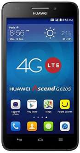 Huawei Ascend G620s (5 Zoll), LTE, 1,2 GHz Quad-Core, 1 GB Ram, 8 Megapixel-Kamera, Android 4.4) schwarz für 124,68€ @Amazon.fr