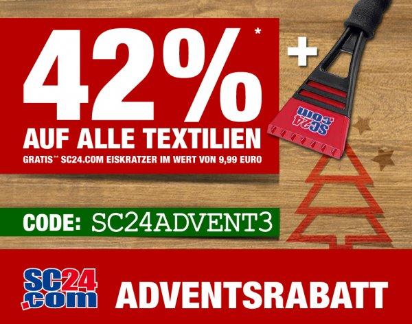 42% RABATT + Eiskratzer GRATIS bei SC24.com