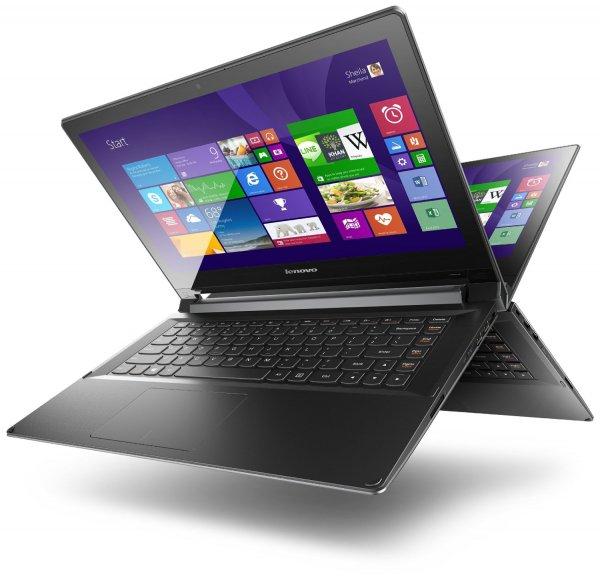 Lenovo Flex 2-14 (14 Zoll FHD IPS) Core i3-4010U, 4GB RAM, 500GB HDD, NVIDIA GeForce 820M 2 GB, Touchscreen, Win 8.1) für 399€ @Amazon.de