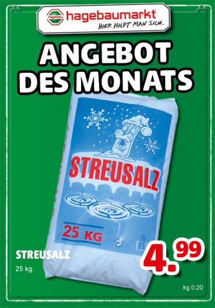 [Hagebau]25kg Sack Streusalz 4,99 im Angebot des Monats